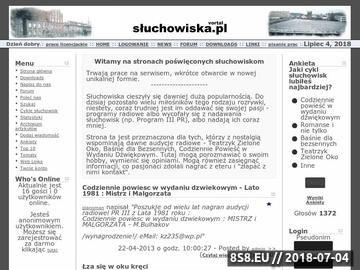 Zrzut strony Słuchowiska