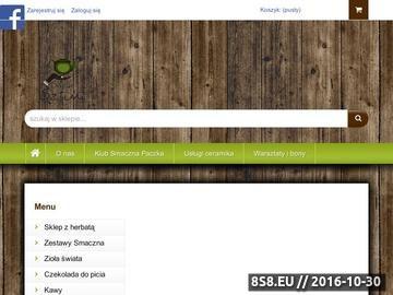 Zrzut strony Szeroki wybór herbat i akcesoriów do ich przygotowania