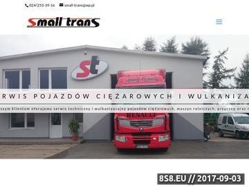 Zrzut strony Spedycja międzynarodowa - Small Trans