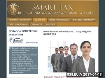 Zrzut strony Smart Tax biuro rachunkowe Włochy