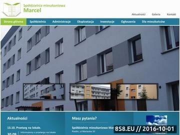 Zrzut strony Spółdzielnia Mieszkaniowa Marcel w Radlinie