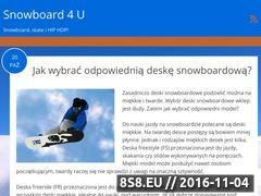Miniaturka domeny snowboard4u.pl