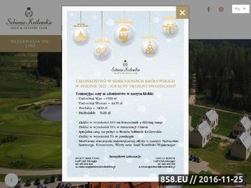 Zrzut strony Sobienie Królewskie hotel w Sobieniach