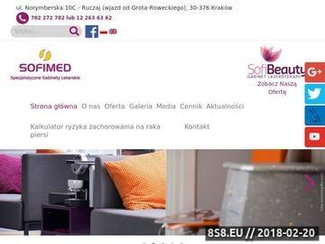 Zrzut strony Sofimed BRCA1 Kraków