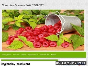 Zrzut strony Soki naturalne - sok malinowy i sok tłoczony jabłko, owoce, warzywa
