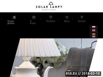 Zrzut strony SklepSolar z lampami