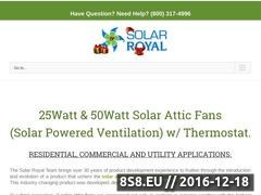 Thumbnail of Solar Royal, LLC. is a manufacturer and developer Website