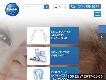 Zrzut strony Usługi stomatologiczne, aparaty i implanty
