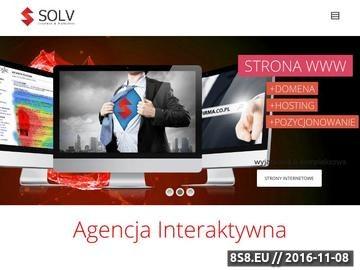 Zrzut strony SOLV - Agencja interaktywna