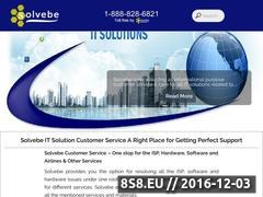 Thumbnail of Solvebe Customer Service for ISP, software issue Website