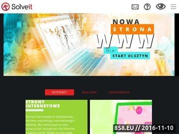 Zrzut strony Projektowanie stron Olsztyn