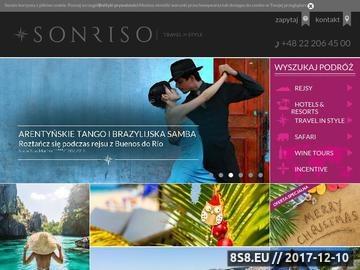 Zrzut strony Biuro podróży - Sonriso.pl