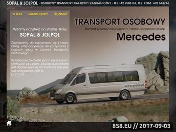 Zrzut strony SOPAL Transport osobowy