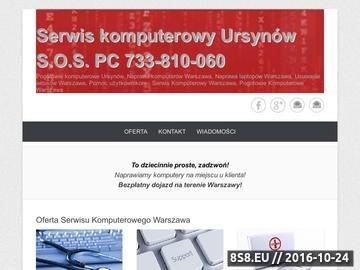 Zrzut strony Pogotowie komputerowe S.O.S PC Serwis Komputerowy Warszawa