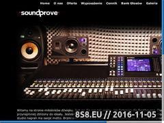 Miniaturka domeny soundprove.com