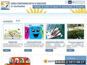 Zrzut strony Szkoła Podstawowa 92 im. Jana Brzechwy