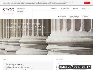 Zrzut strony SPCG adwokat