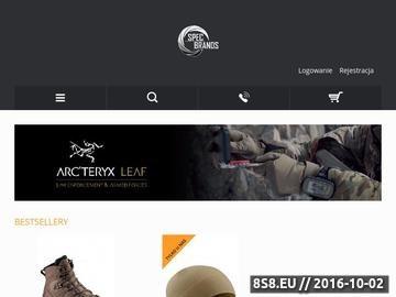 Zrzut strony Odzież Arcteryx LEAF, buty Salomon FORCES, okulary SwissEye i OR