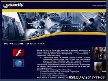 Zrzut strony Ochrona osób, mienia, obiektów, osiedli Warszawa