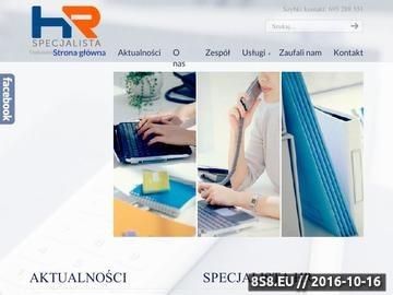 Zrzut strony Usługi kadrowo-płacowe - Łódź - Specjalista HR