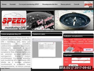 Zrzut strony Monitoring samochodów