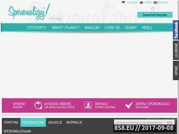 Zrzut strony Spersonalizuj.pl - szablony