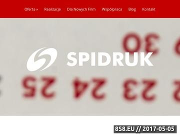 Zrzut strony Druk cyfrowy - Spidruk