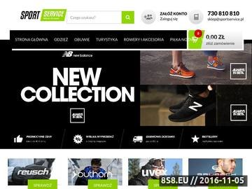Zrzut strony Sklep internetowy z odzieżą i akcesoriami sportowymi