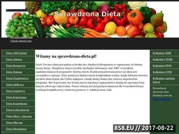 Zrzut strony Sprawdzona dieta