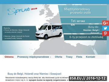 Zrzut strony Sprintbus - usługi trasportowe