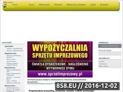 Miniaturka domeny sprzetimprezowy.pl