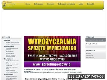 Zrzut strony Wypożyczalnia świateł dyskotekowych, nagłośnienia i wytwornic dymu Bydgoszcz