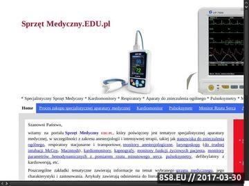 Zrzut strony Sprzęt Medyczny EDU.PL