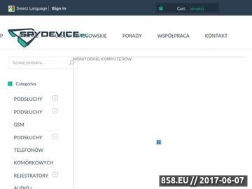 Zrzut strony Artykuły szpiegowskie oraz usługi detektywistyczne