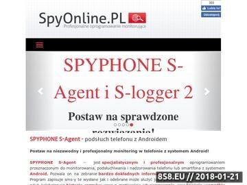 Zrzut strony Program do śledzenia klawiatury SPYPHONE S-Agent