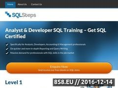 Thumbnail of SQL training - SQLSteps Website