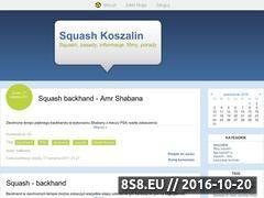 Miniaturka domeny www.squashkoszalin.blox.pl