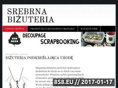 Miniaturka domeny www.srebrnabizuteriaartystyczna.pl