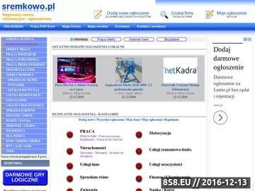 Zrzut strony sremkowo.pl serwis informacyjno ogłoszeniowy powiatu śremskiego