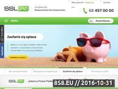 Miniaturka domeny www.ssl24.pl