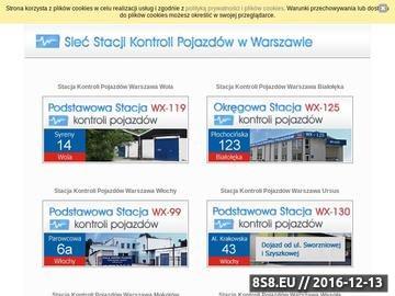 Zrzut strony SKP - przeglądy pojazdów Warszawa