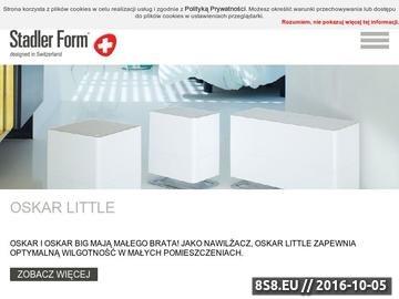 Zrzut strony Stadler Form - szwajcarska marka designerskich produktów dla domu