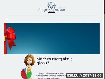 Zrzut strony Nauka śpiewu Warszawa
