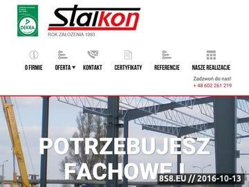 Zrzut strony Producent hali stalowych mazowieckie - STALKON