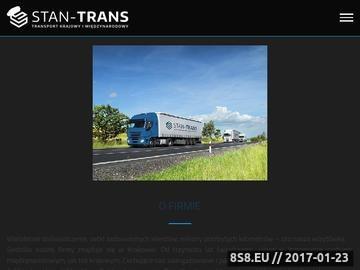 Zrzut strony Stan-trans.com.pl transport międzynarodowy