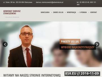 Zrzut strony Kancelaria adwokacka Warszawa