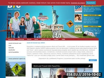 Zrzut strony Business Travel Club - praca w USA