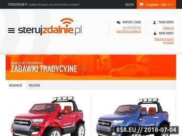 Zrzut strony Sklep internetowy oferujący zabawki i modele zdalnie sterowane