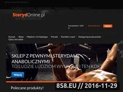 Miniaturka domeny sterydonline.pl