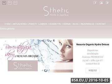 Zrzut strony Klinika Sthetic dr Jagielska - powiększanie ust Warszawa
